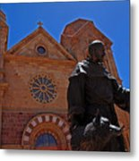 Cathedral Basilica In Santa Fe Metal Print
