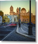 Cathedral From Campo Del Sur Cadiz Spain Metal Print