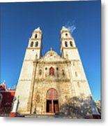 Cathedral In Campeche Metal Print