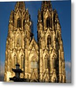 Cathedral In Cologne  Metal Print