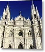 Cathedral In El Salvador Metal Print