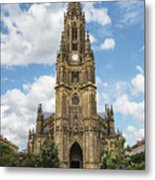 Cathedral In San Sebastian Is The Largest Religious Structure In The Basque Country Metal Print