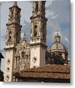 Cathedral In Taxco Mexico Metal Print