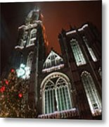 Cathedral In The Mist Metal Print