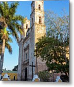 Cathedral In Valladolid Metal Print