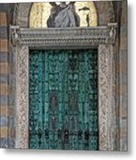 Cathedral Of Amalfi Door Metal Print