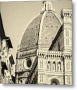 Cathedral Of Brunelleschi In Florence Metal Print