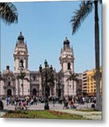 Cathedral Of Lima Metal Print