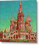 Cathedral Of St. Basil, Moscow Russia Metal Print