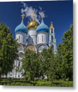 Cathedral Of The Assumption At Trinity Lavra Of St. Sergius In Sergiyev Posad, Russia Metal Print