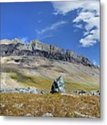 Cathedral Peak Over Waterton Valley Trail - Glacier National Park Metal Print