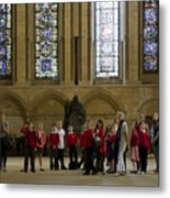 Cathedral People Metal Print by Joanna Madloch