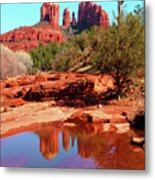 Cathedral Reflections Metal Print
