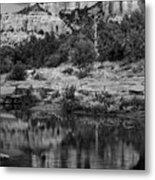 Cathedral Rock Black And White Number Seven Metal Print