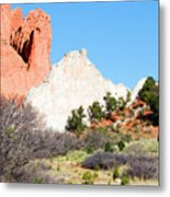 Cathedral Rock In Garden Of The Gods Park Metal Print