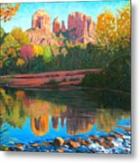 Cathedral Rock - Sedona Metal Print by Steve Simon