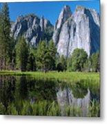 Cathedral Rocks - Yosemite Metal Print