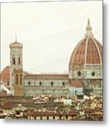 Cathedral Santa Maria Del Fiore At Sunset, Florence. Metal Print
