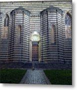 Cathedral Side Door Orvieto Italy Metal Print