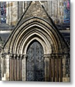 Cathedral Side Door Metal Print