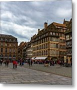 Cathedrale Notre-dame Or Our Lady Place, Strasbourg, France Metal Print