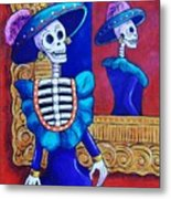 Catrina In The Mirror Metal Print