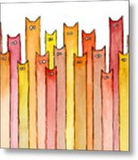 Cats Autumn Colors Metal Print