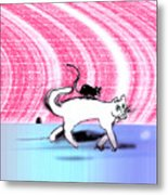 Cats Don't Hang Out With Mice Metal Print