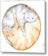 Cat's Harmony Metal Print