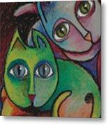 Cats I  2000 Metal Print