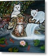 Cats In The Wild Metal Print