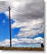 Cattle Chaser Metal Print