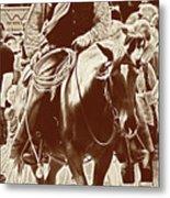 Cowboy Comtemplation Metal Print