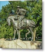 Cattle Drive Sculpture, Pioneer Plaza, Dallas, Tx. Metal Print