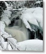 Cattyman Falls In Winter - Vertical Metal Print
