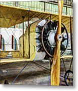 Caudron G3 Propeller And Cockpit - Vintage Metal Print
