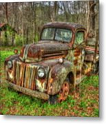 Caught Behind 1947 Ford Stakebed Pickup Truck Art Metal Print