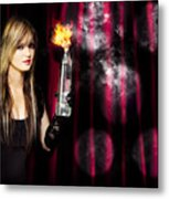 Caught In The Act Of Setting The Stage On Fire Metal Print