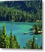 Caumasee Lake Switzerland Metal Print