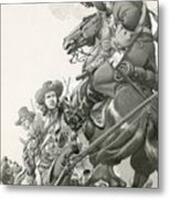 Cavalry Charge Metal Print