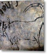 Cave Art: Ibex Metal Print