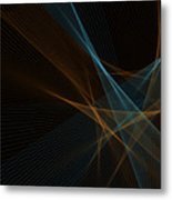 Cave Computer Graphic Line Pattern Metal Print