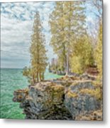 Cave Point Bluffs 2 Metal Print