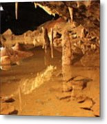 Cave Reflections Metal Print