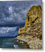 Cave Rock Color Metal Print