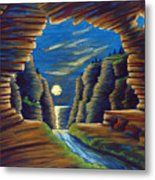 Cave With Cliffs Metal Print