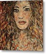 Cave Woman Metal Print