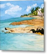 Cayman Shoreline Metal Print