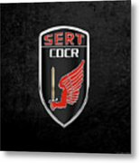 C.d.c.r Special Emergency Response Team - S.e.r.t. Patch Over Black Metal Print
