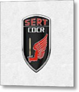 C.d.c.r Special Emergency Response Team - S.e.r.t. Patch Over White Metal Print